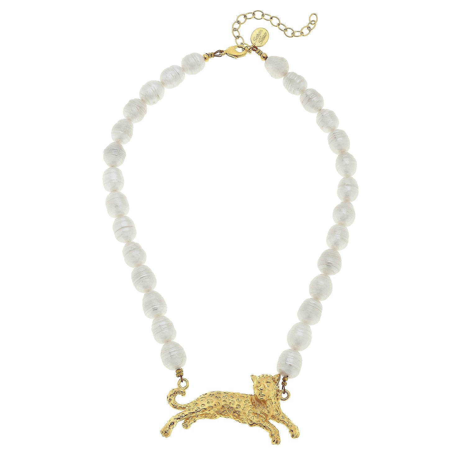 Pearl Leopard Necklace