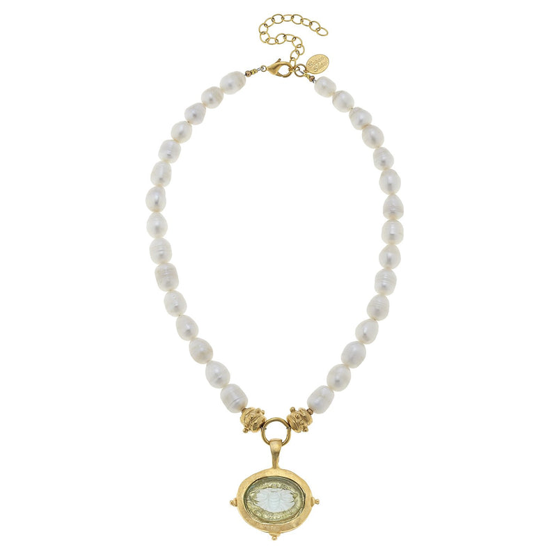 Venetian Glass Bee Pearl Necklace