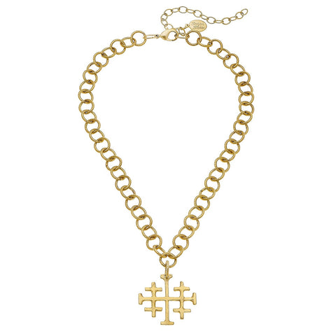 Dotted Cross Necklace