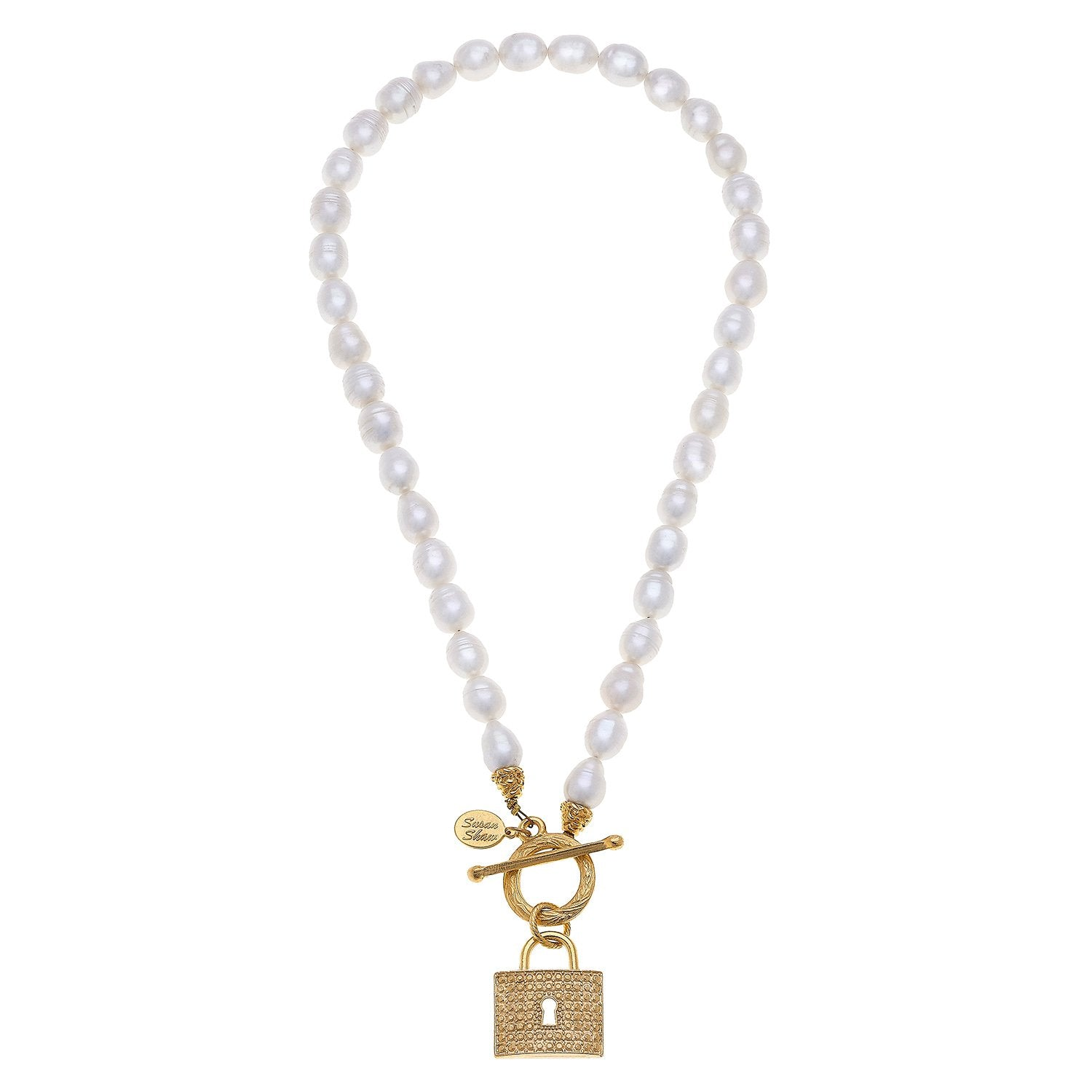Pearl Lock Toggle Necklace