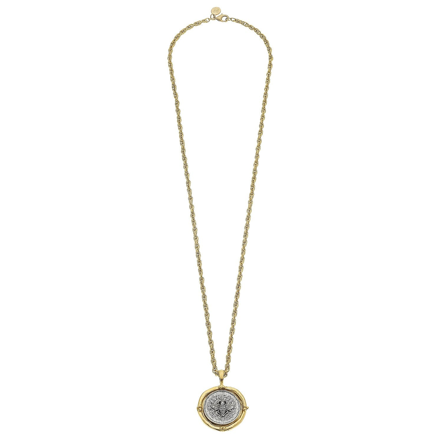 Long Coin Pendant Necklace