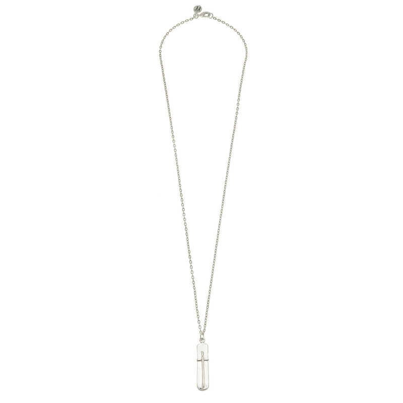 Bar Cross Necklace