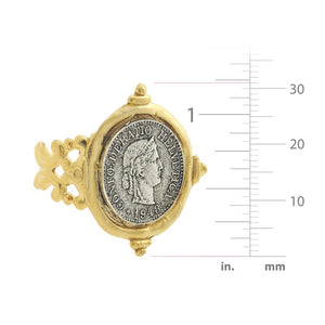 Mixed Metal Coin Ring