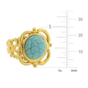 Turquoise Scroll Ring