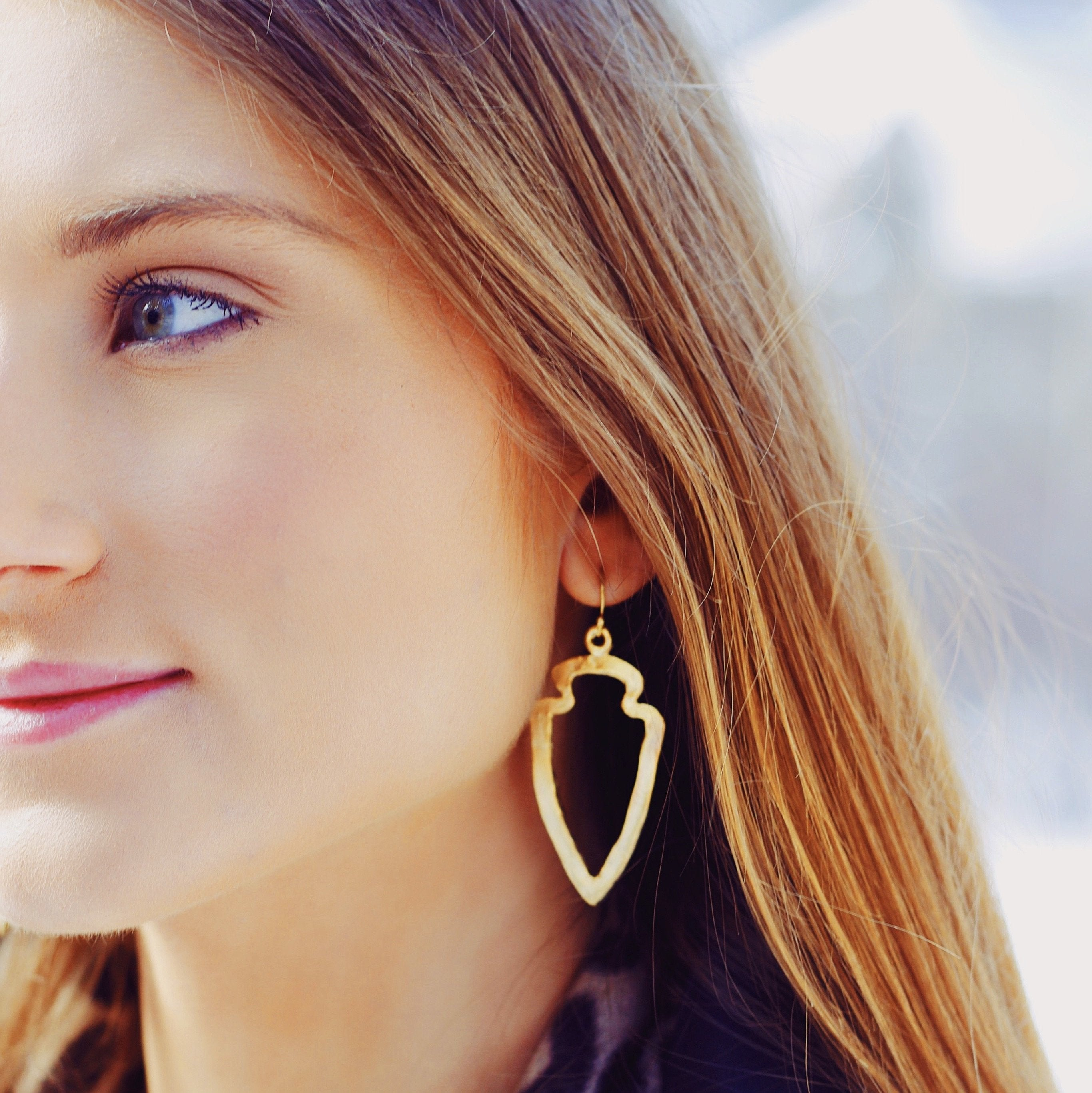 Open Arrowhead Earrings