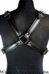 Black leather harness X