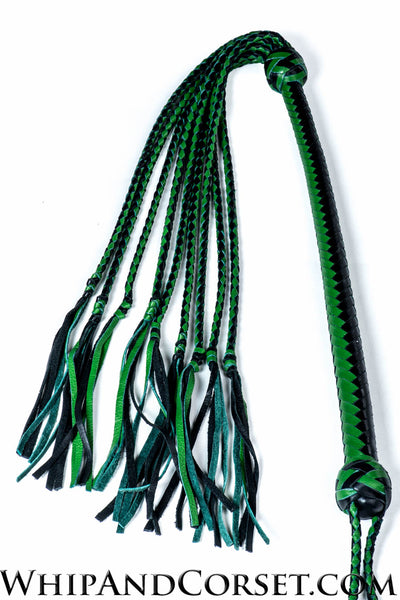 Graceful cat o' nine tails with green fringe