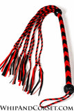 Graceful cat o' nine tails with red fringe