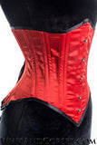 RED DRAMATIC POINTS UNDERBUST CORSET