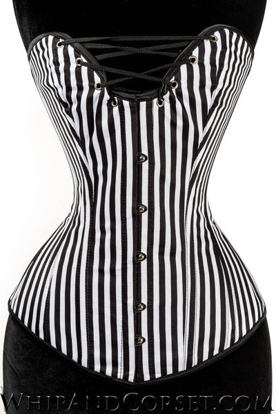 STRIPED CLEAVAGE CORSET
