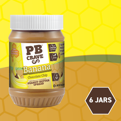 PB Crave Jars - 6 Pack Chocolate Banana