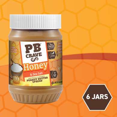 PB Crave Jars - 6 Pack Honey Sea Salt