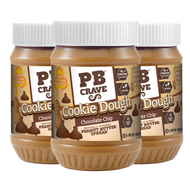 PB Crave Jars - 3 Pack Chocolate Chip Cookie Dough