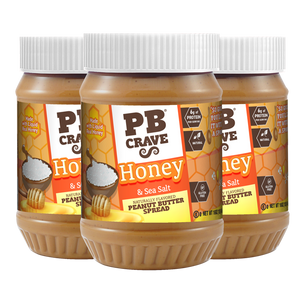 PB Crave Jars - 3 Pack Honey Sea Salt
