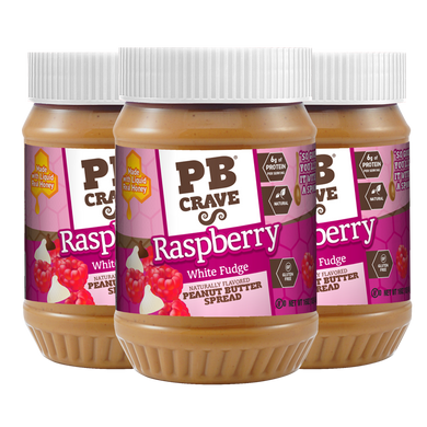 PB Crave Jars - 3 Pack Raspberry White Fudge & Dark Chocolate