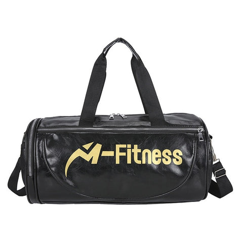 PU Leather Fitness Bag with Shoulder Strap