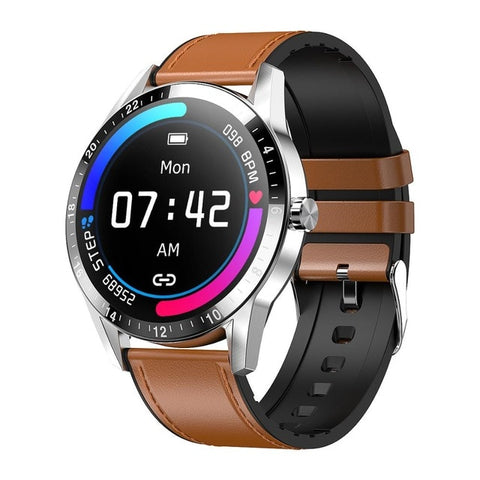 Bluetooth Smart Watch with Leather Strap