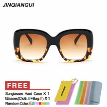 JINQIANGUI Sunglasses Women Square Plastic Frame Sun Glasses Blue Colo