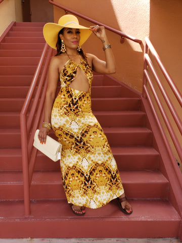 Golden Sunset Maxi (Mustard)