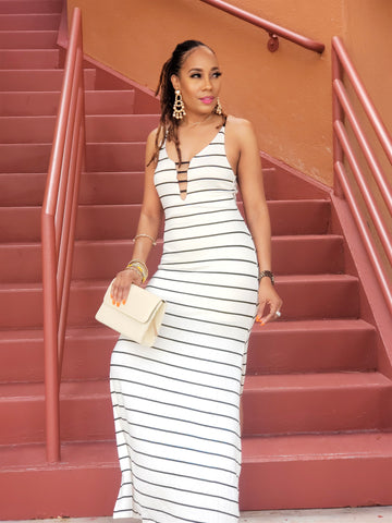 Cruise Ready Stripped Maxi