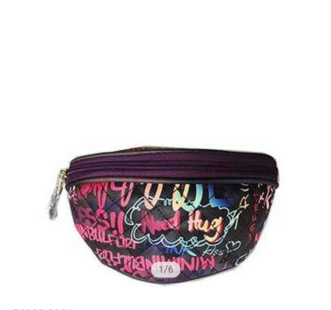 Graffiti Fanny Pack | Black/Purple