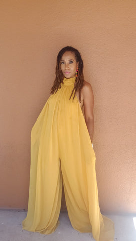 Caribbean Breeze Jumpsuit | Mustard