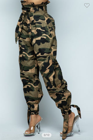 G.I. Jane High Waist Pants | Green