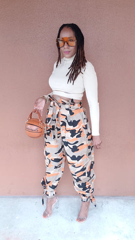 G.I. Jane High Waist Pants | Orange