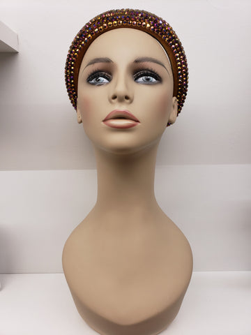 Rhinestone Padded Headband | Rose Gold