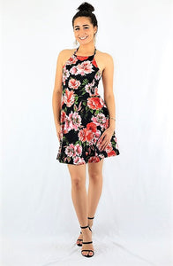 Roses in Spring Strappy Dress