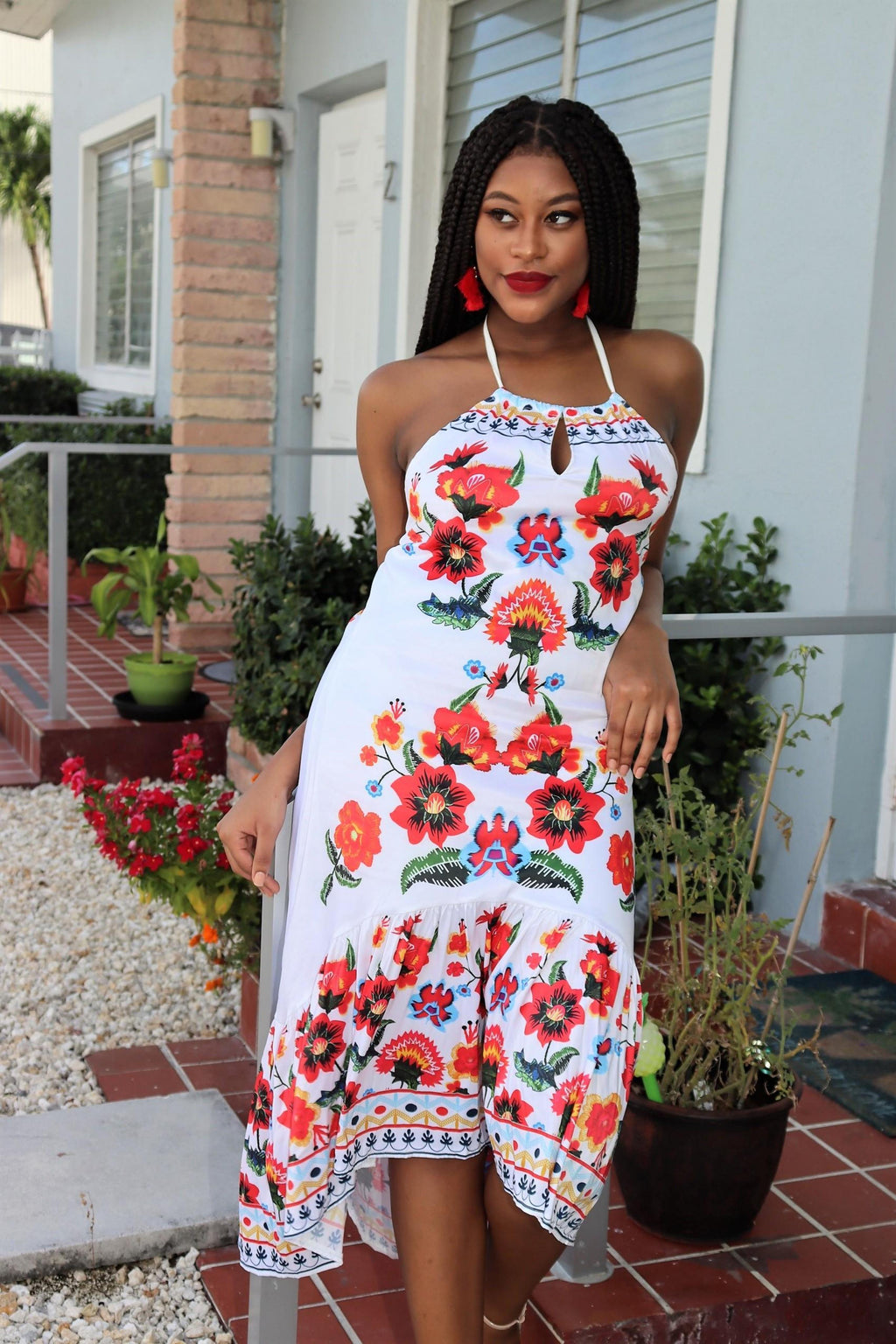 Flower Bomb High Low Maxi