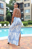 Criss-Cross Tie Dye Maxi Dress