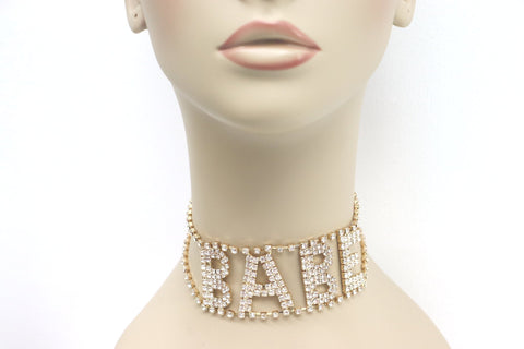 What A Babe Choker | Gold