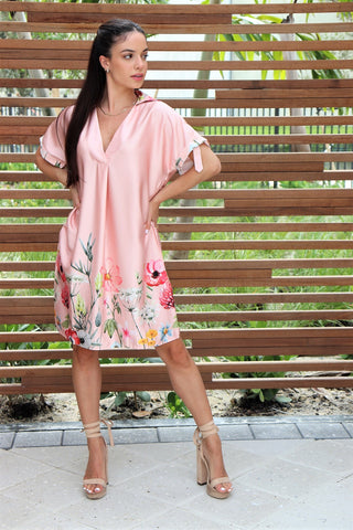 Meadow Satin Dress | Blush