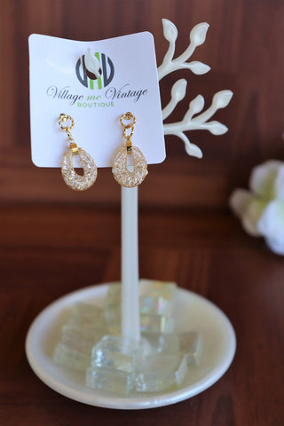 Tinker Bell Earrings (Gold/diamonds)