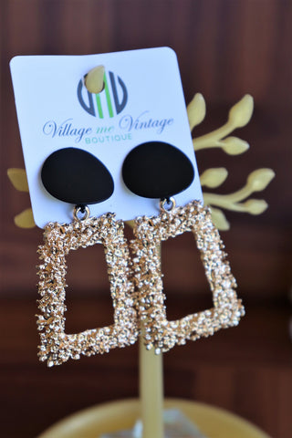 Gold Cluster Earrings (Gold)