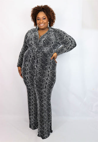 Wild Thing Snake Print Jumpsuit