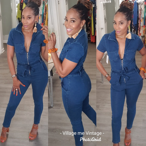 Cassidy Denim Jumpsuit