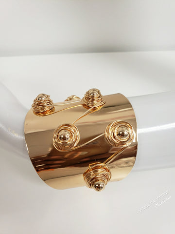 All Wired Up Cuff | Gold