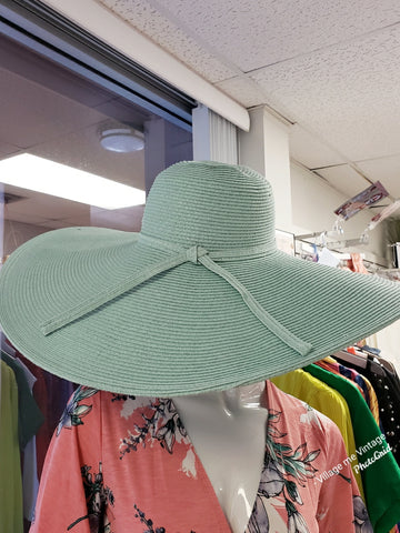Never Bothered Straw Hat (Light Aqua)