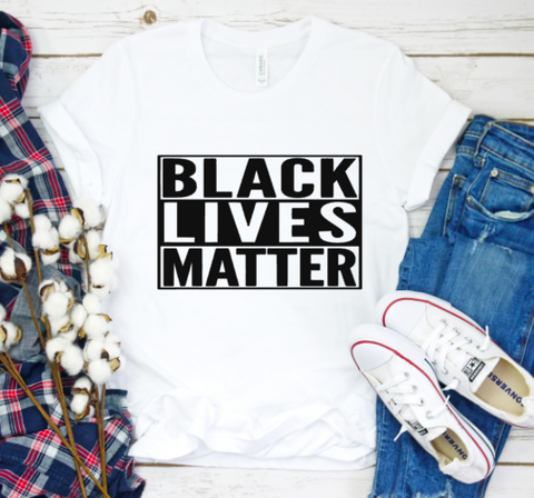 Black Lives Matter Tee | White