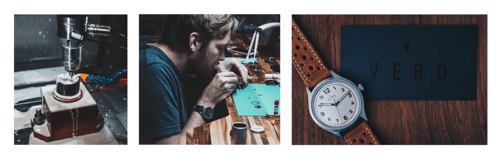 Manufacturing a watch, shows final product