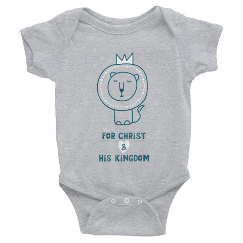 For Christ & His Kingdom Onesie (Grey)