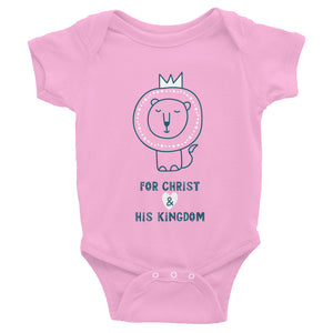 For Christ & His Kingdom Onesie (Pink)