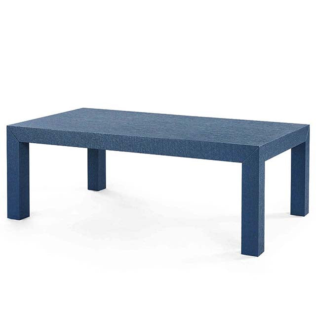 Parsons Coffee Table in Navy Blue