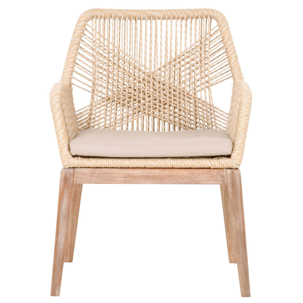 Loom Arm Chair in Sand (Set of 2)