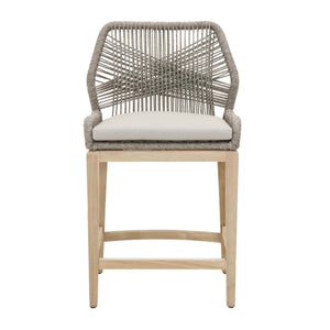Loom Outdoor Counter Stool in Platinum