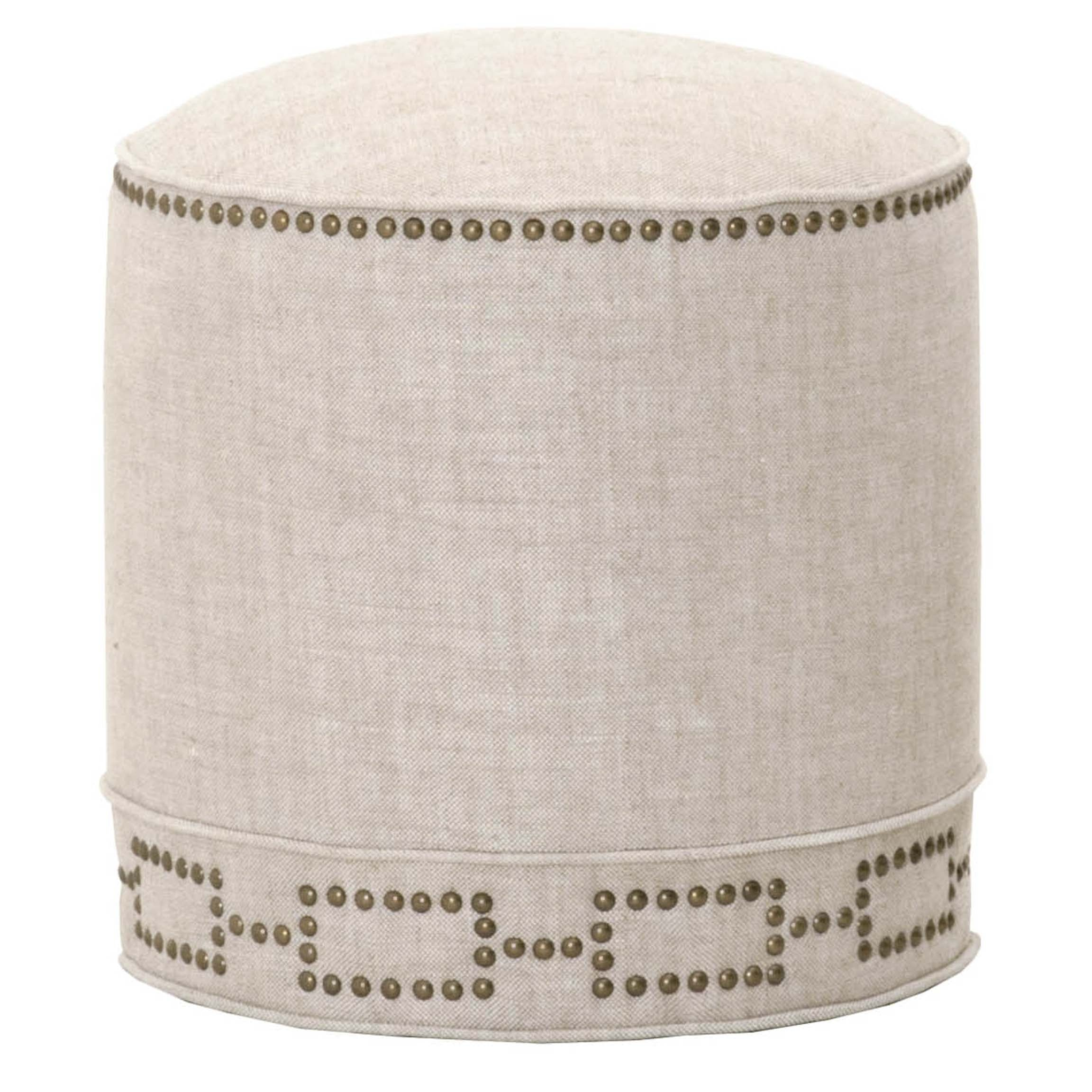 Marlow Ottoman in Bisque