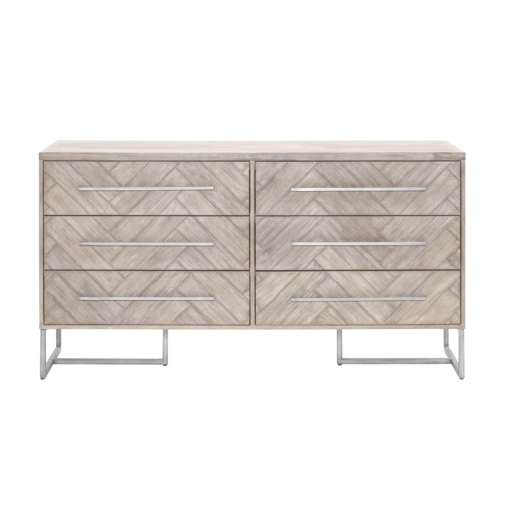 Mosaic Double Dresser in Natural Gray