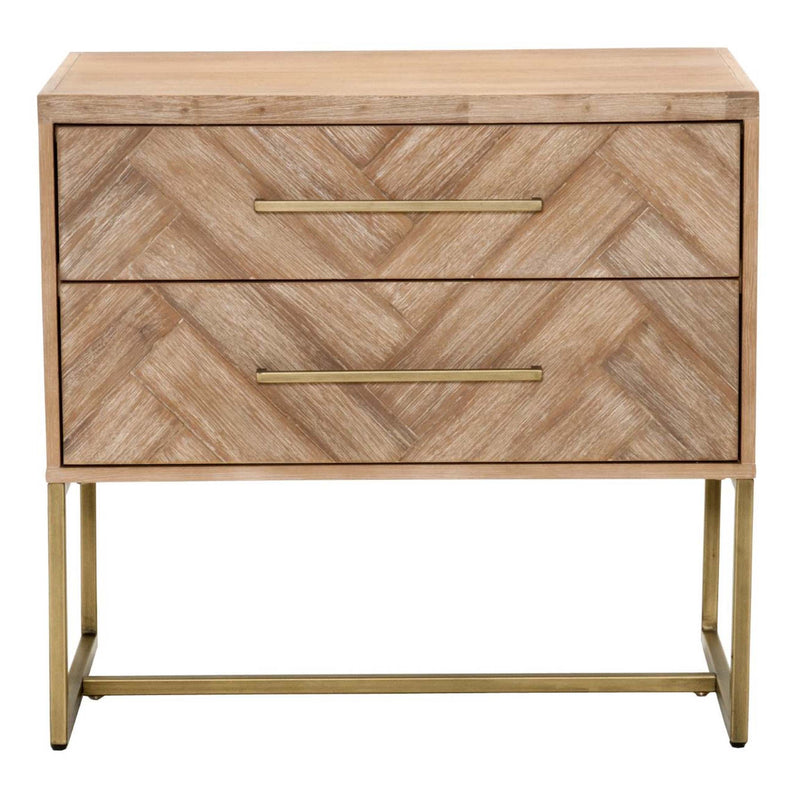 Mosaic Nightstand in Stone Wash